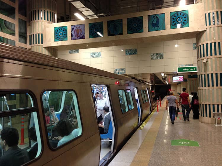 Main Istanbul Metro, Tram and Funicular Lines for Tourists