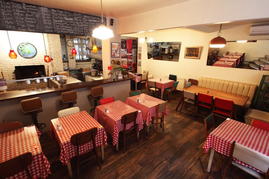 Picture Of The Interior Of The Italian Restaurant Miss Pizza In Cihangir.