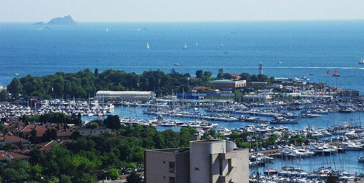 Picture of the Kalamiş Marina south of Kadıköy in Istanbul, Turkey.