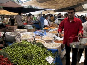 Picture of market in Kadıköy, Istanbul.
