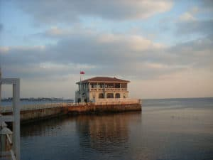 Picture of the famous cafe on the Moda quay in Kadıköy, Istanbul.