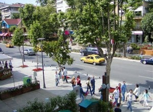 Picture of Bağdat Caddesi, Istanbul's famous shopping street.