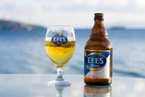 Picture of Efes, the tasty Turkish beer.