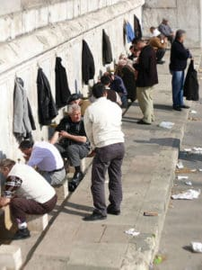 Picture of ablution process outside a mosque in Istanbul, Turkey.