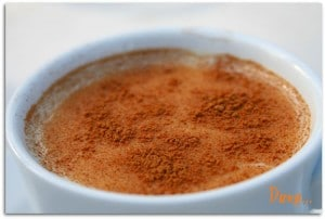 Picture of a delicious cup of salep found in Istanbul, Turkey.
