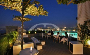 Picture of Mikla bar on top of Marmara Pera hotel in Istanbul, Turkey.
