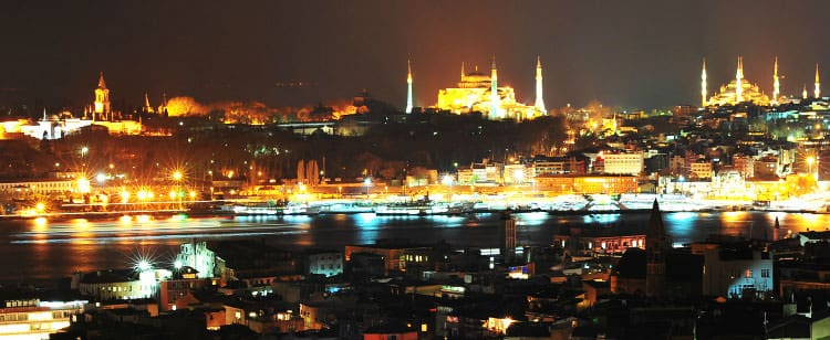 View from 360 bar and restaurant in Istanbul, Turkey.