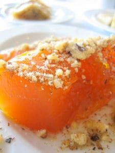 Kabak Tatlısı, A Turkish dessert.