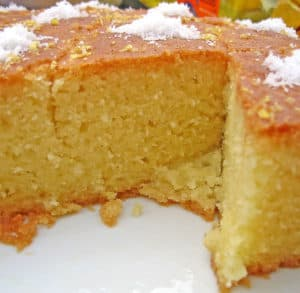 Picture of Revani, a Turkish Dessert.