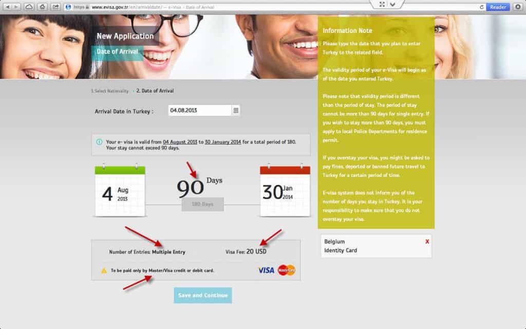 How to get a Turkish Visa or e-Visa online - Step 3