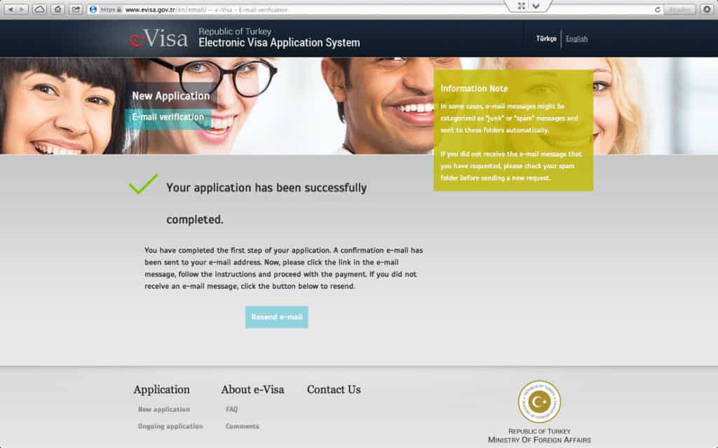 How to get a Turkish Visa or e-Visa online - Step 6