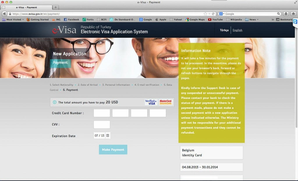 How to get a Turkish Visa or e-Visa online - Step 7