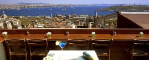 Picture of Leb-i Derya cafe and restaurant in Kumbaracı, Istanbul.
