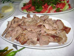 Kuyu kebabi or tandır dish in Istanbul, Turkey.