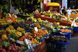Market in Kadıköy, Istanbul.