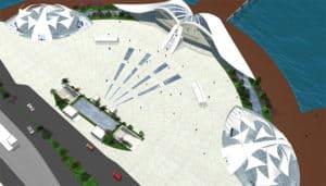 Aarial View of New Kabataş Transport Hub Design in Istanbul